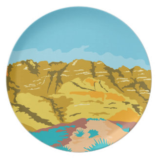 Red Rock Canyon WPA Melamine Plate