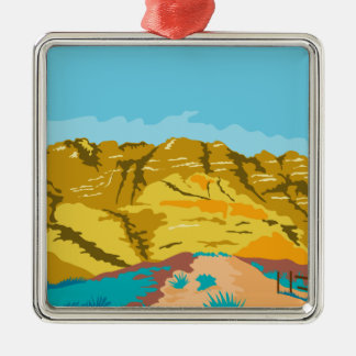 Red Rock Canyon WPA Metal Ornament