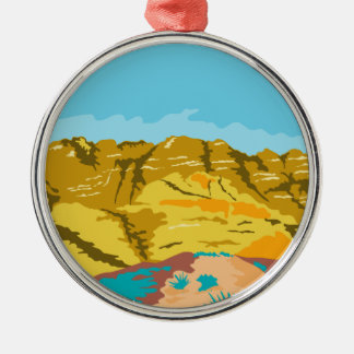 Red Rock Canyon WPA Metal Ornament