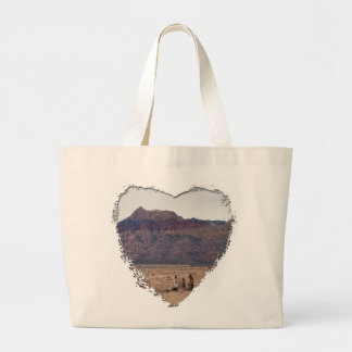 Red Rock Desert Large Tote Bag