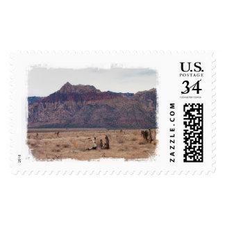 Red Rock Desert Postage Stamp