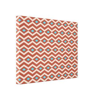 Red Rock Diamond Zigzag Canvas