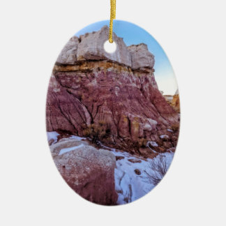 Red Rock Formation Ceramic Ornament