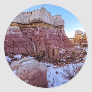 Red Rock Formation Classic Round Sticker