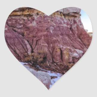 Red Rock Formation Heart Sticker