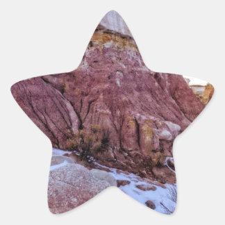 Red Rock Formation Star Sticker