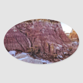 Red Rock Formation Oval Stickers