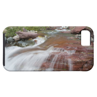 Red rock in Baring Creek in Glacier National iPhone SE/5/5s Case