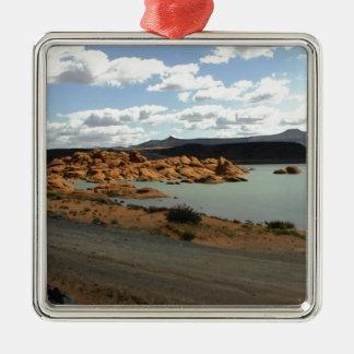 Red Rock Lake Metal Ornament