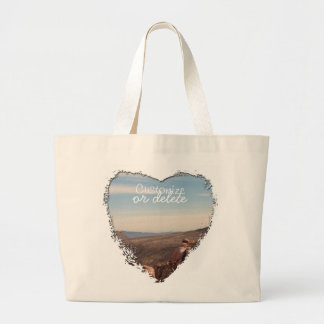 Red Rock Landscape; Customizable Large Tote Bag