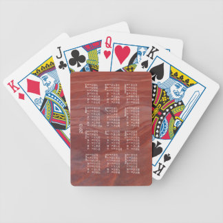 Red Rock Layer Study; 2013 Calendar Bicycle Playing Cards