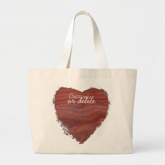 Red Rock Layer Study; Customizable Large Tote Bag