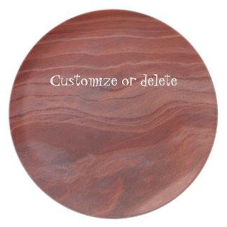 Red Rock Layer Study; Customizable Melamine Plate
