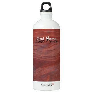 Red Rock Layer Study; Customizable Water Bottle