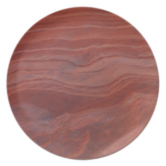 Red Rock Layer Study Dinner Plate