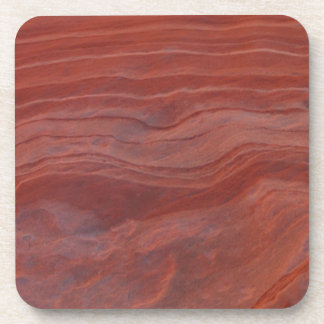 Red Rock Layer Study Drink Coaster