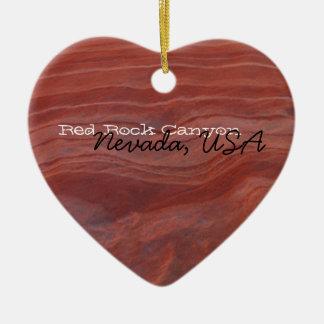 Red Rock Layer Study; Nevada Souvenir Ceramic Ornament