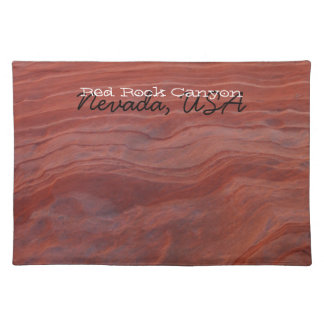 Red Rock Layer Study; Nevada Souvenir Cloth Placemat