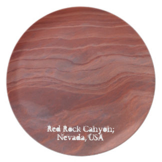 Red Rock Layer Study; Nevada Souvenir Plate