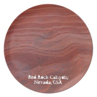 Red Rock Layer Study; Nevada Souvenir Plate