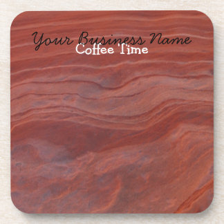 Red Rock Layer Study; Promotional Beverage Coaster
