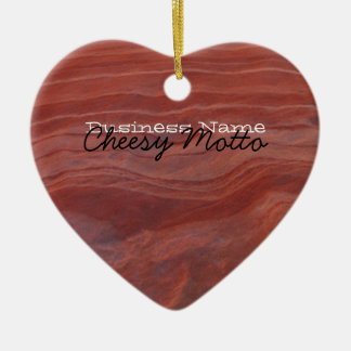 Red Rock Layer Study; Promotional Ceramic Ornament