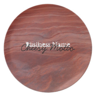 Red Rock Layer Study; Promotional Dinner Plate