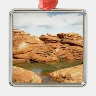 Red Rock Metal Ornament