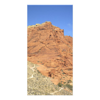 Red Rock Nevada Mountain Photo Card