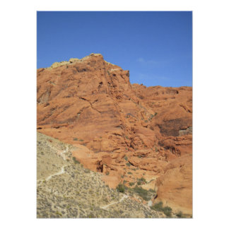 Red Rock Nevada Mountain Poster