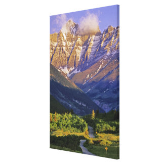 Red Rock Road in Waterton Lakes National Park Stretched Canvas Print