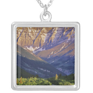Red Rock Road in Waterton Lakes National Park Silver Plated Necklace