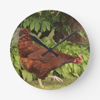 Red Rock Rooster Wall Clock