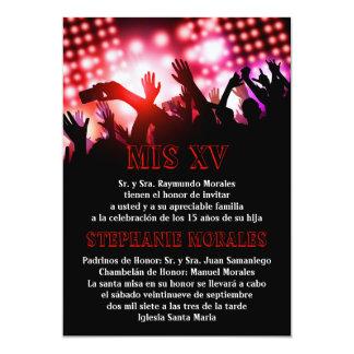 Red Rock Star Quinceanera Birthday Invitation
