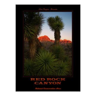 Red Rock Sunrise Poster