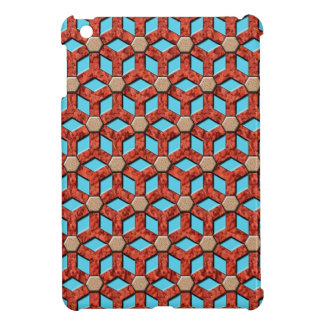 Red Rock Tiled Hex Mini iPad Cover