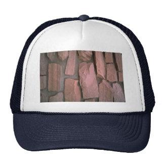 Red rock wall texture trucker hats