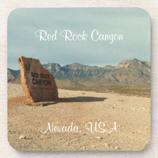 Red Rock Welcome; Nevada Souvenir Drink Coaster