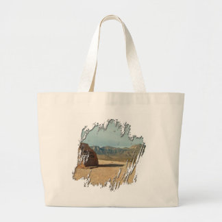 Red Rock Welcome; No Text Large Tote Bag