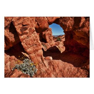 Red Rock Window Card