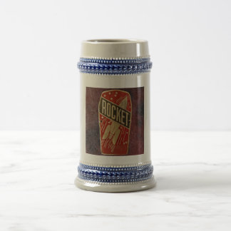 RED ROCKET. BEER STEIN