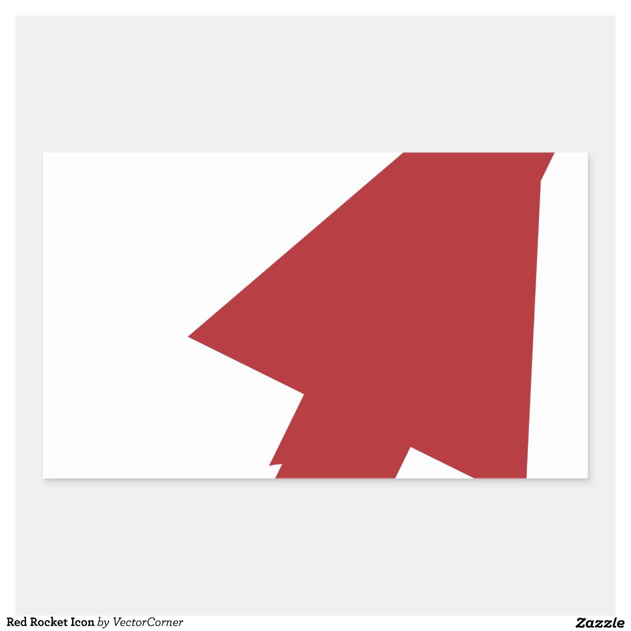 Red Rocket Icon Red Rocket Icon Rectangular