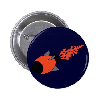 Red Rocket Pinback Button