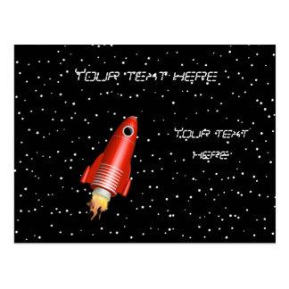Red Rocket Postcard