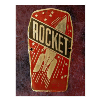 RED ROCKET. POSTCARD
