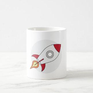 Red Rocketship Classic White Coffee Mug