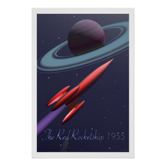 Red Rocketship Posters