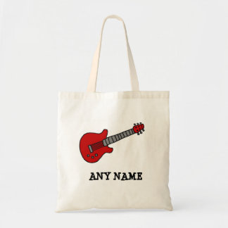 Red Rockin' Guitar Canvas Bag