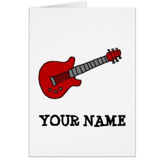 Red Rockin' Guitar Card