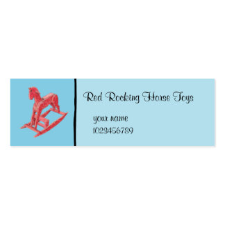 Red Rocking Horse blue small Business Card